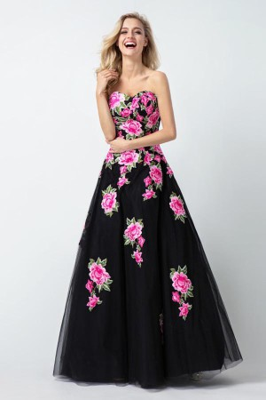 Shop Ball Gown Sweetheart Sleeveless Floor-length Prom Dresses On Sale – Ombreprom