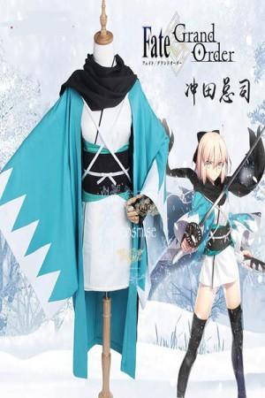 Fate/Grand Order 沖田 総司 コスプレ衣装 三破 桜セイバー沖田総司 FGO コスプレ衣装