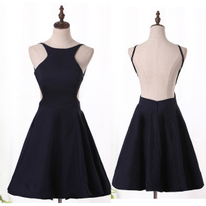 2018 Sexy Open Back Scoop Cocktail Dresses A Line Short/Mini New Arrival #OpenBack #Scoop #Cockt ...