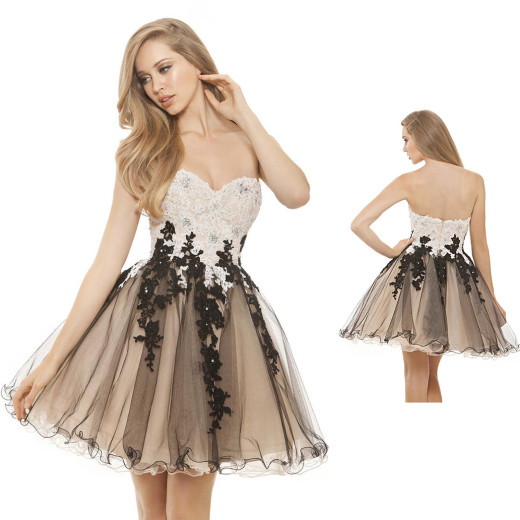 2019 Homecoming Dresses A Line Sweetheart Tulle With Applique Short/Mini #HomecomingDresses #ALi ...