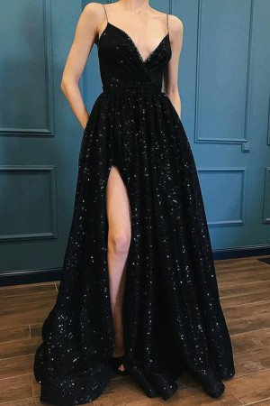 Stunning Spaghetti Straps V Neck With Beading Prom Dress P688 – Ombreprom