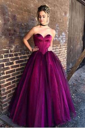 Impressive Sweetheart Sleeveless A Line Ball Gown Floor Length Prom Dress P808 – Ombreprom