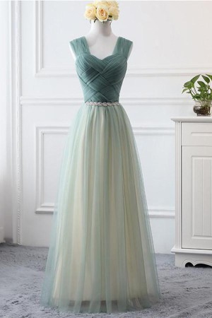 Simple Sweetheart A Line Open Back Tulle Floor Length Prom Dress P788 – Ombreprom