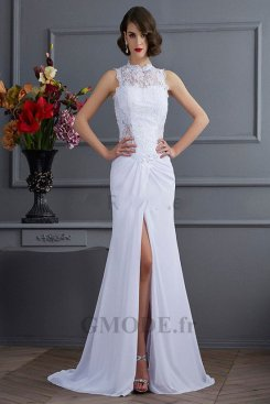 Robe blanche pas cher pour mariage moins €100 soldes