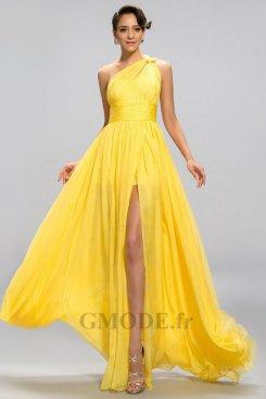 Robe jaune pas cher pour mariage moins €100 soldes