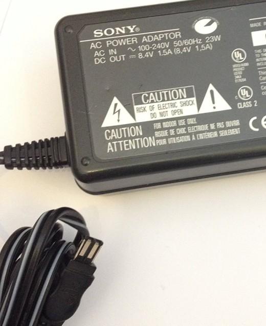 GENUINE 8.4V 1.5A AC Adapter for Sony Handycam DCR-PC1000E Sony HDR-SR12E Sony AC-L15 AC-L15A AC ...