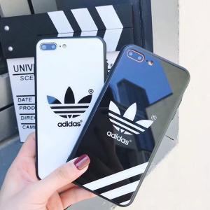 アディダス&ナイキ iphone xr/xs maxケース 鏡面デザイン ブランド iphone xsペアスマホケース