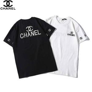19ss 新作 シャネル 半袖 tシャツ ブラント Tシャツ chanel風 メンズ レディース tシャツ ペア