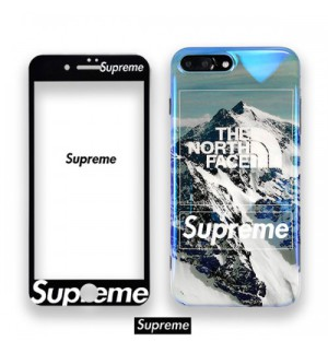 The north face x supreme iPhone xs/xs max/xr/8 plusケース 雪山 シュプリーム iPhone Xr ケース フ ...