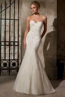 Abiti da sposa scollo a cuore,  Vestito da sposa a cuore