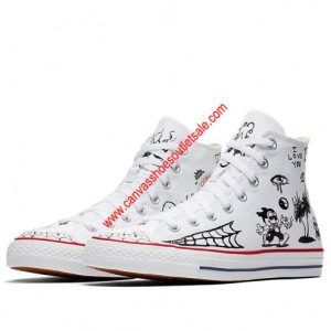 Converse Cons Shoes Chuck Taylor All Star x Sean Pablo Canvas High Top White