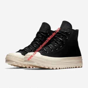 Converse Shoes Chuck Taylor All Star Lift Ripple OX Canvas High Top Black
