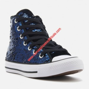 Converse Shoes Chuck Taylor All Star Sequins Canvas High Top Blue