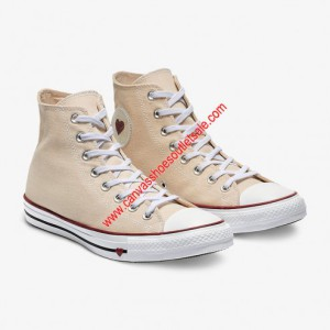 Converse Shoes Chuck Taylor All Star Sucker Love Denim Canvas High Top Beige