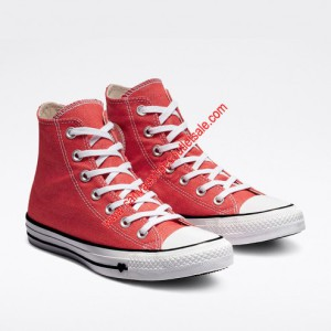 Converse Shoes Chuck Taylor All Star Sucker Love Denim Canvas High Top Red
