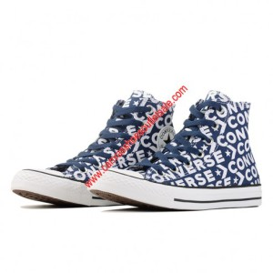 Converse Shoes Chuck Taylor All Star Wordmark Canvas High Top Blue