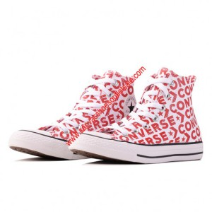 Converse Shoes Chuck Taylor All Star Wordmark Canvas High Top Red