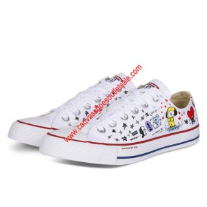 Converse Shoes Chuck Taylor All Star x BT21 Canvas Low Top White