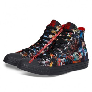 Converse Shoes Chuck Taylor All Star x DC Comics Forever Evil Canvas High Top Black