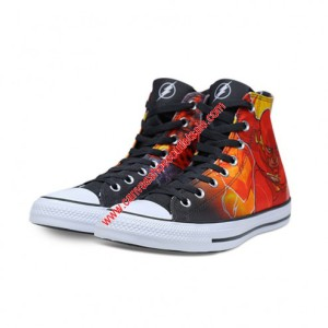 Converse Shoes Chuck Taylor All Star x DC Comics The Flash Canvas High Top Black