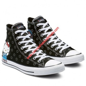 Converse Shoes Chuck Taylor All Star x Hello Kitty Canvas High Top Black