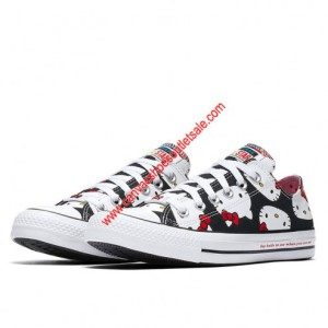 Converse Shoes Chuck Taylor All Star x Hello Kitty Canvas Low Top Black