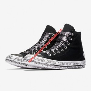 Converse Shoes Chuck Taylor All Star x Miley Cyrus Canvas High Top Black