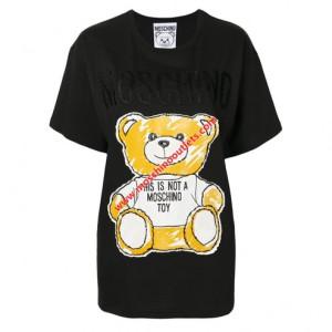 423a5d4ba4b Moschino Crown Bear Womens Short Sleeves Short Dress Black | 家コレ ...