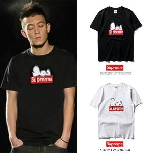 シュプリーム スヌーピー Tシャツ 韓国風 コピー 半袖 tシャツ メンズ レディース