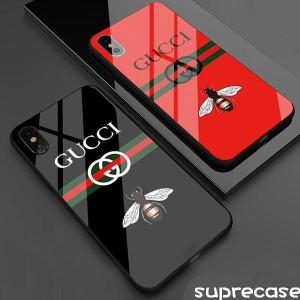アイフォンXS MAXケース グッチ iphone xr/xsケース ブラント GUCCI 蜂柄 強化ガラス アイフォンxカバー