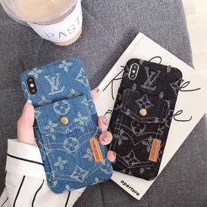 LV iphone xs max/xrケース デニム製 アイフォン x/xsカバー ヴィドン カードポケット付き http://mobi ...