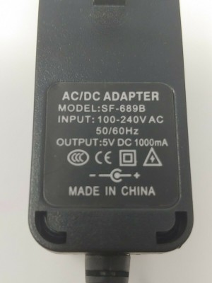 New 5V DC 1000mA AC Adapter For SF-689 SF-689B Power Supply Cord Wall Charger PSU [New 5V DC 100 ...