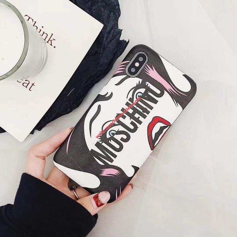 Moschino Crying Eyes iPhone Case Black