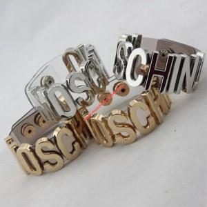 Moschino Logo Women Transparent Bracelets