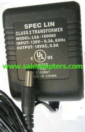 http://saleadapters.com/spec-lin-l5a180080-ac-adapter-18vac-08a-class-2-transformer-p-3561.html  ...