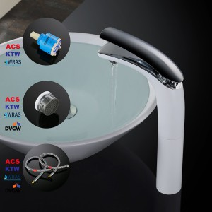 Homelody hoch Waschtischarmatur mit Chrom-Oberfläche, leicht zu reinigen,edel Design für Ihr Bad ...