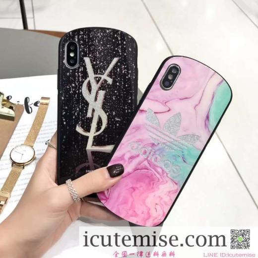 個性 イヴサンローラン iphone xs max/xr/x ケース ブラントysl iphone6s/7 plus ハード風ケースアイフ ...