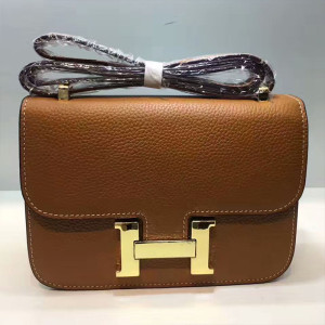 Hermes Constance Bag Togo Leather Gold Hardware In Brown