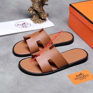 Hermes Izmir Sandal Calfskin In Brown