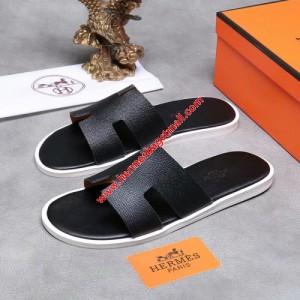 Hermes Izmir Sandal Epsom Calfskin In Black