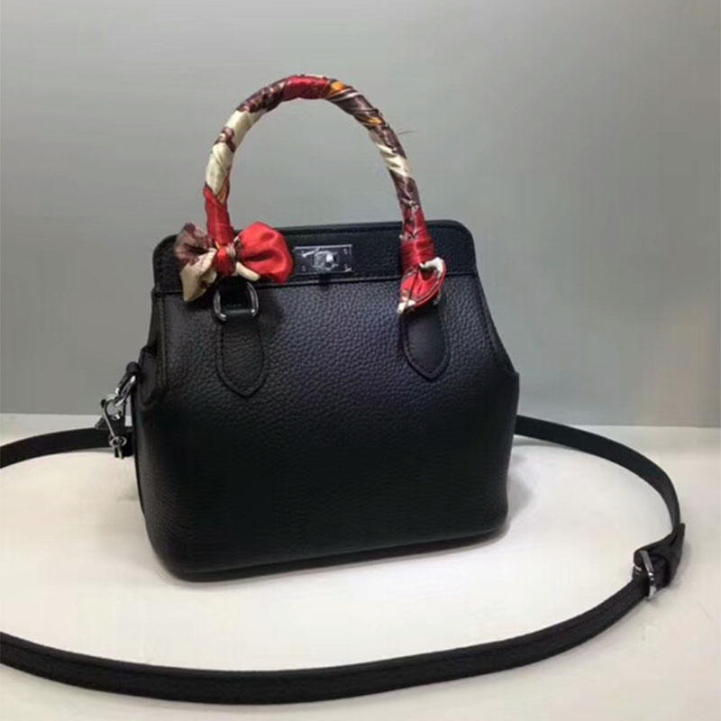 Hermes Toolbox Bag Swift Leather Palladium Hardware In Black