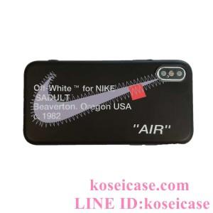 運動風 ナイキ iphone11/11 pro/11 pro max ケース nike iphoneXs max ケース オフホワイト OFF white  ...
