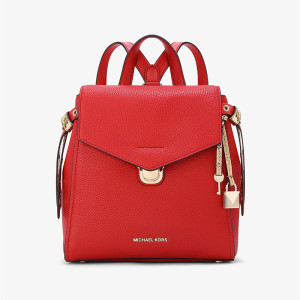 MICHAEL Michael Kors Bristol Small Leather Backpack Red