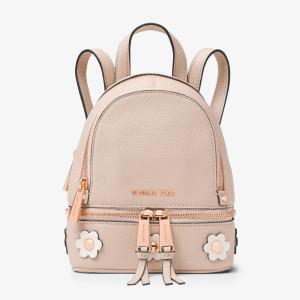 MICHAEL Michael Kors Rhea Mini Floral Applique Leather Backpack Pink