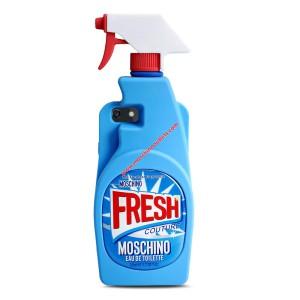 Moschino Fresh Bottle iPhone Case Blue