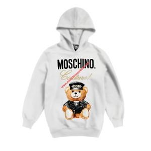 Moschino Loves Printemps Bear Women Long Sleeves Sweatshirt White