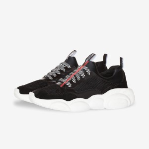 Moschino Teddy Sole Women Mesh Run Sneakers Black