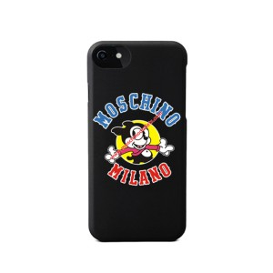 Moschino Vintage Mickey iPhone Case Black