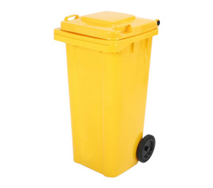 Plastic Outdoor/Indoor Dustbin Yellow