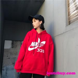 ナイキ アディダス コラボ パーカー Nike Adidas ロゴ カバーオール  芸能人愛用 並行輸入品 icutebuy ...